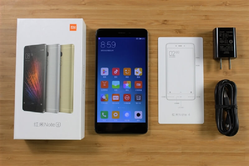 Xiaomi Redmi Note 4 unboxed
